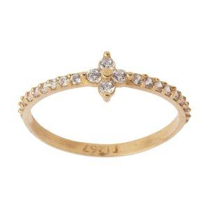 انگشتر طلا 18 عیار زنانه کانیار گالری کد AN15