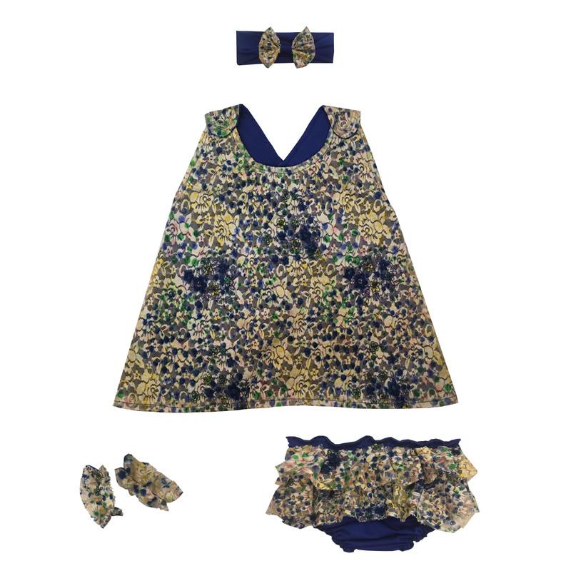 ست 4 تکه لباس نوزادی دخترانه مدل ارغوان کد 100