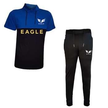 ست تیشرت و شلوار مردانه طرح EAGLE کد 6789