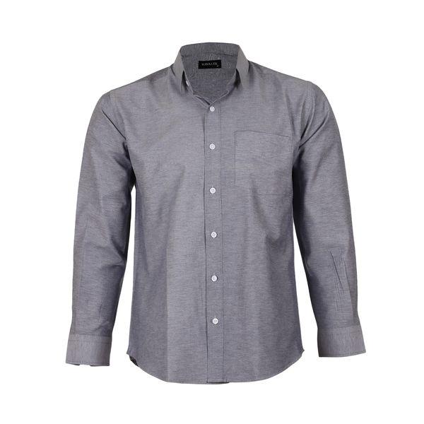 پیراهن آستین بلند مردانه ناوالس مدل NOx8020-GY