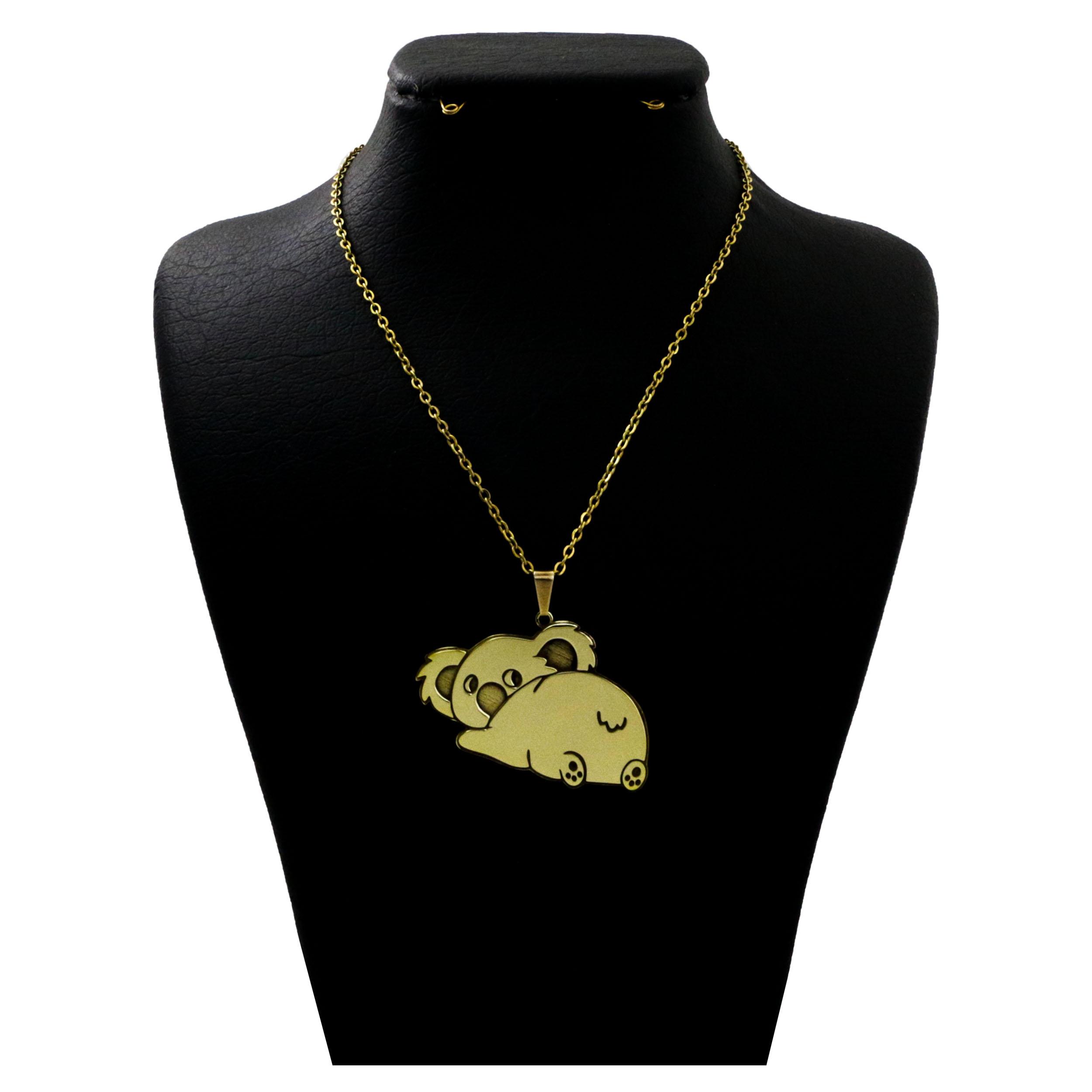 گردنبند نقره  زنانه دل دلی جم طرح کوالا  کد D 419