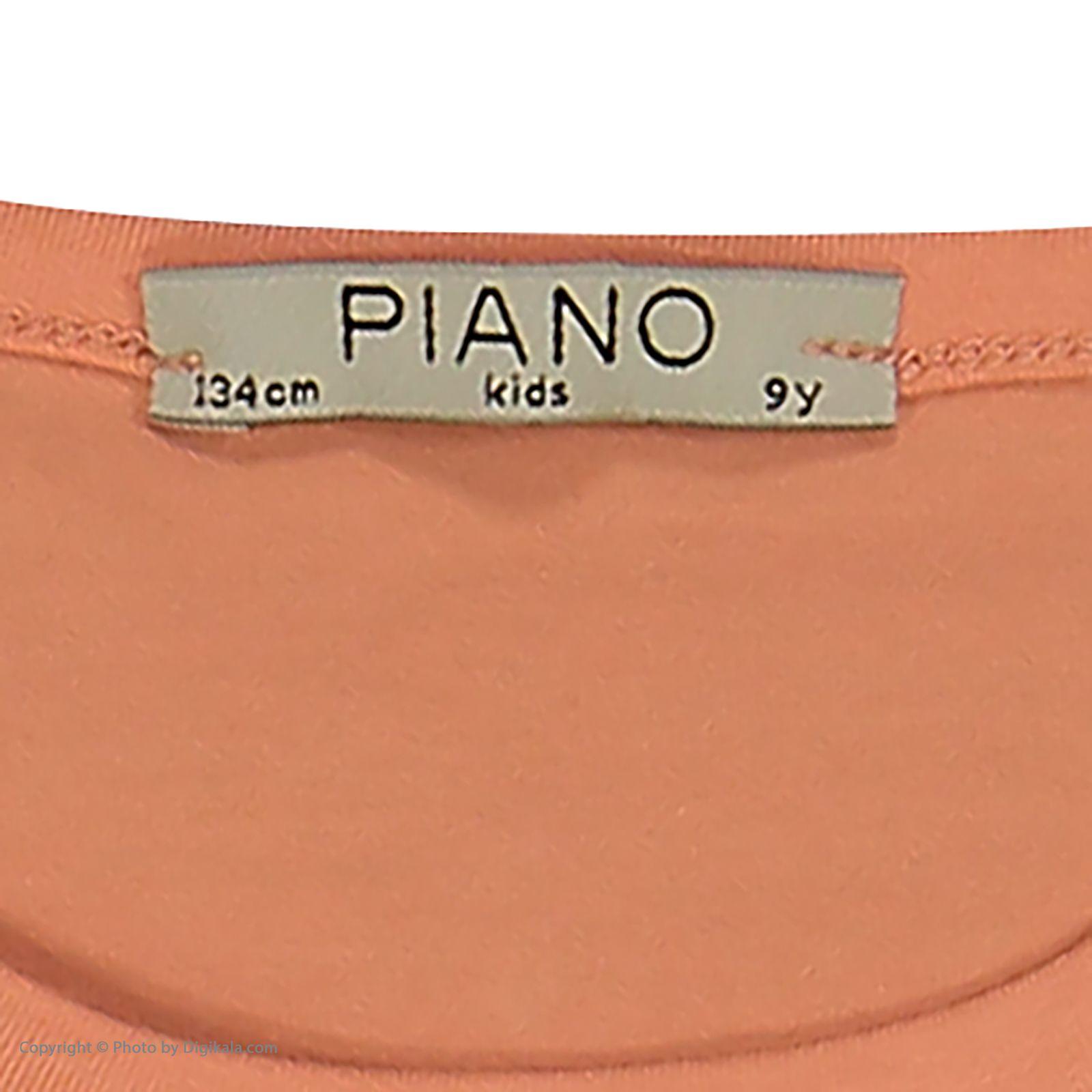 تی شرت دخترانه پیانو مدل 1836-23 -  - 6