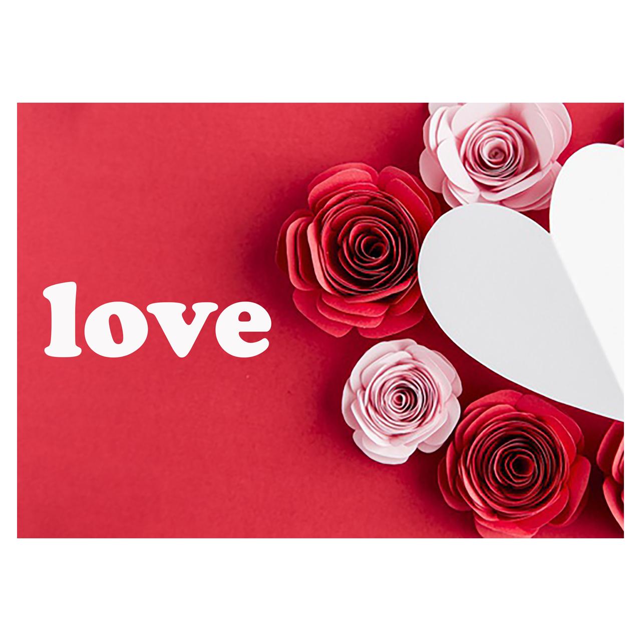 کارت پستال ماهتاب طرح عشق love گل قلب کد 1904
