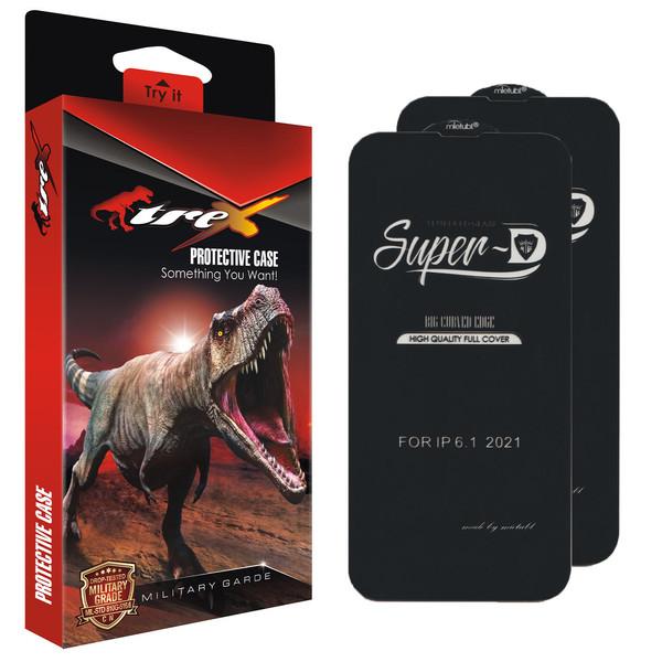 محافظ صفحه نمایش تی رکس مدل Super D مناسب برای گوشی موبایل اپل iPhone 13 /13 Pro بسته دو عددی