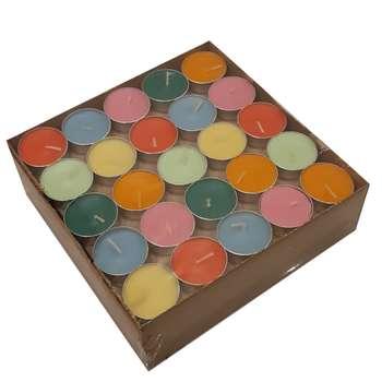 شمع وارمر مدل هفت رنگ بسته 100 عددی