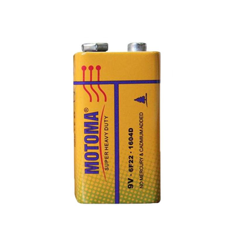 بررسی و {خرید با تخفیف} باتری کتابی موتوما مدل 6F22 بسته 12 عددی اصل