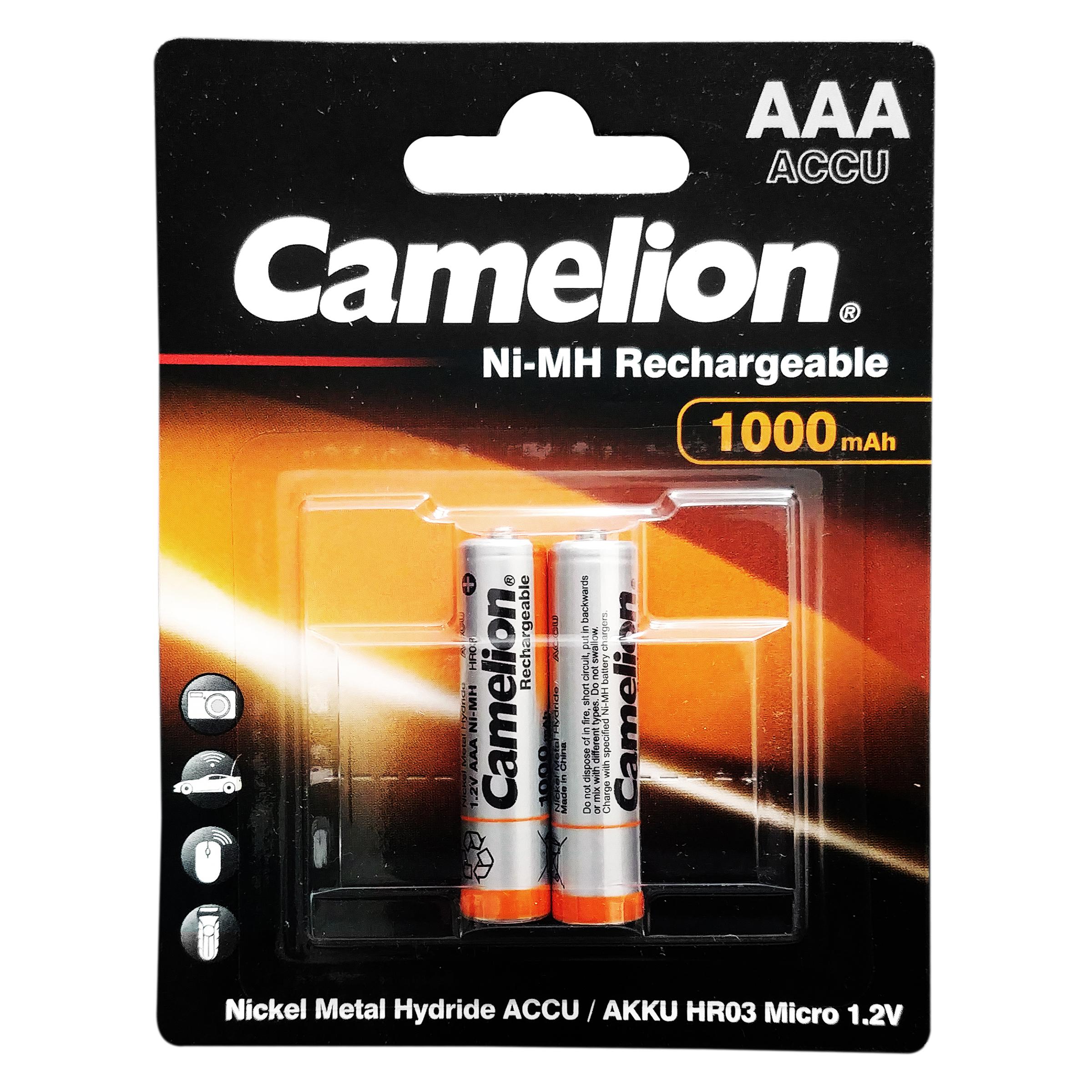 باتری نیم قلمی قابل شارژ کملیون مدل ACCU-HR03 بسته 2 عددی