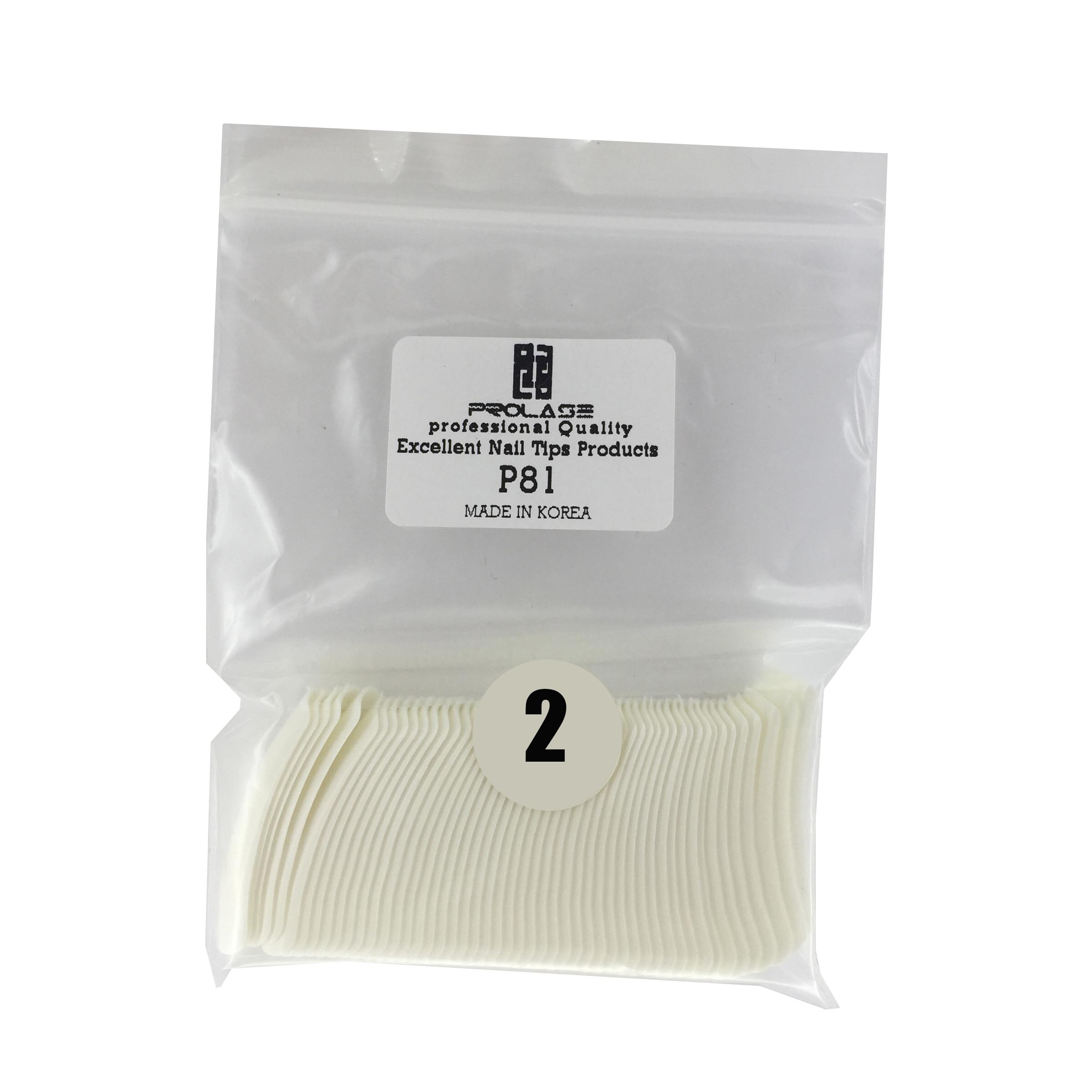 تیپ کاشت ناخن پرولایز شماره 2 - p81 بسته 50 عددی