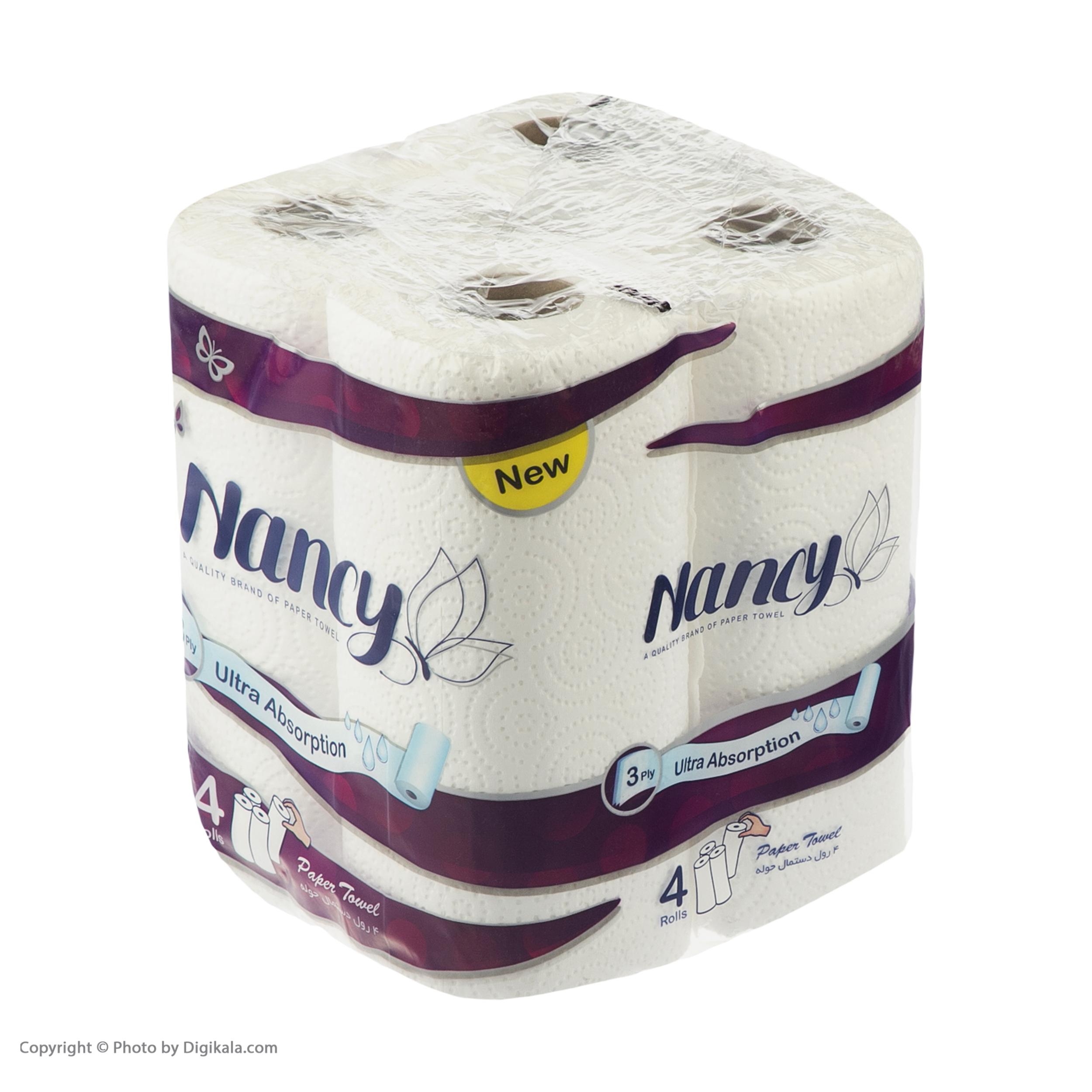دستمال حوله کاغذی نانسی بسته 4 عددی main 1 2