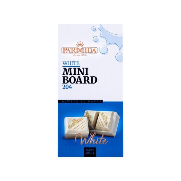 شکلات سفید پارمیدا مدل mini board مقدار 200 گرم