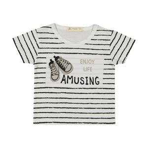 تی شرت نوزادی پسرانه بی کی مدل 2211109-01