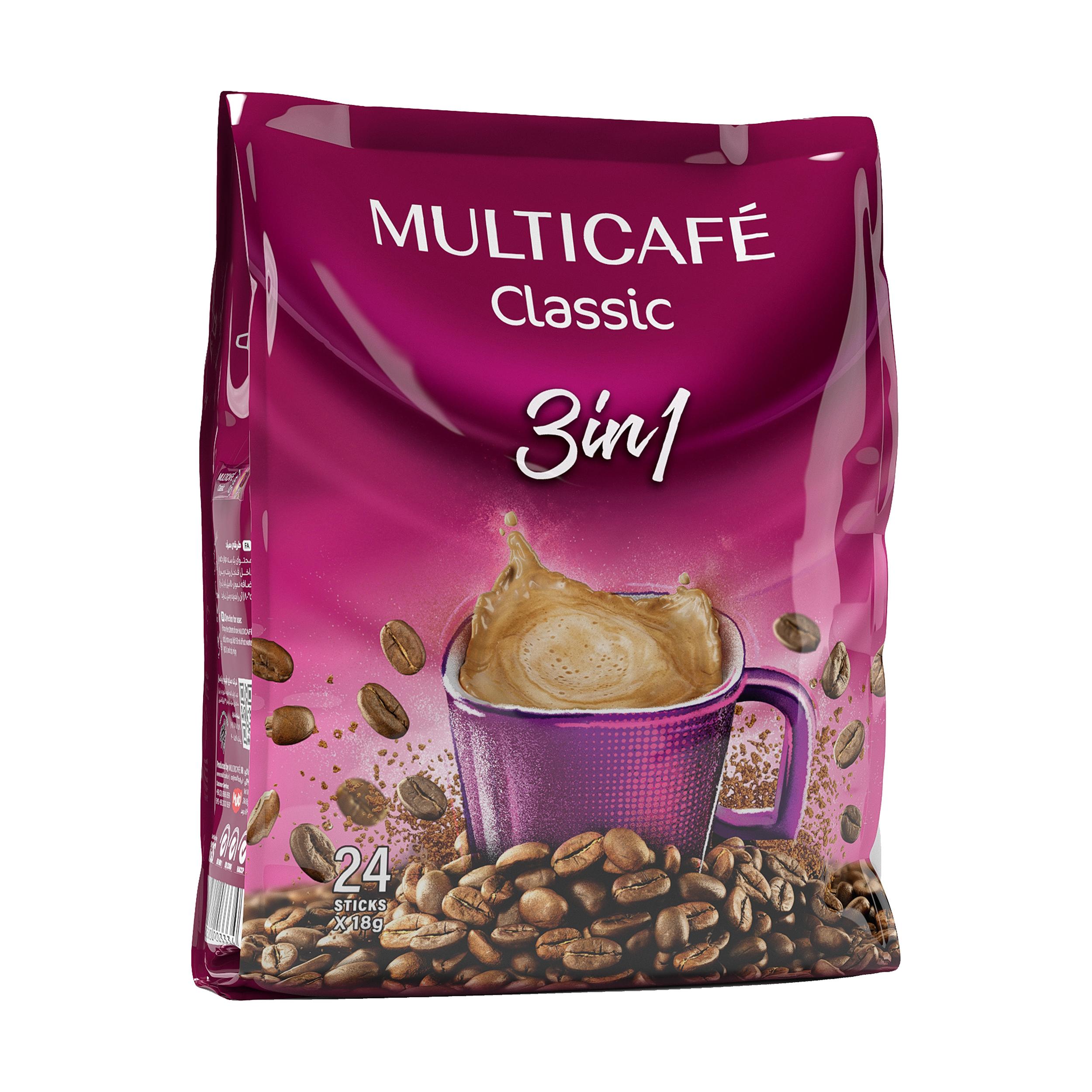 کافی میکس 3 در 1 مولتی کافه - 18 گرم بسته 24 عددی