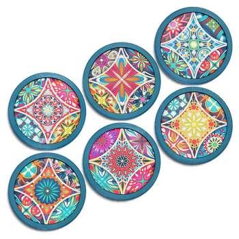 زیر لیوانی طرح Mandala مجموعه 6 عددی