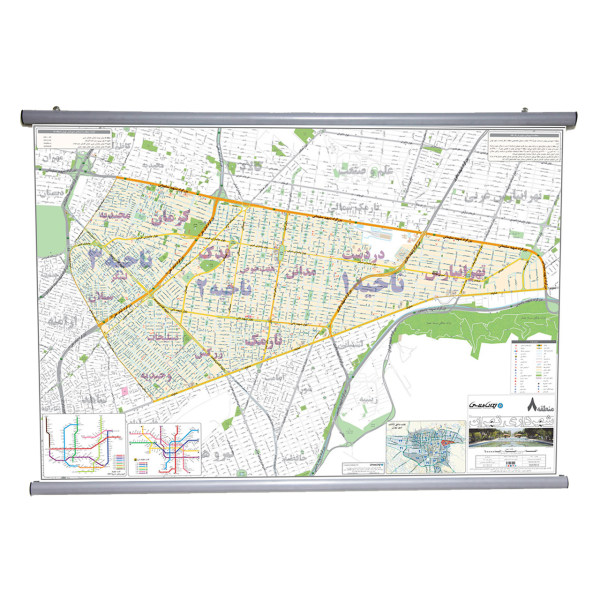 نقشه منطقه 8 شهرداری تهران انتشارات ایرانشناسی مدل 308