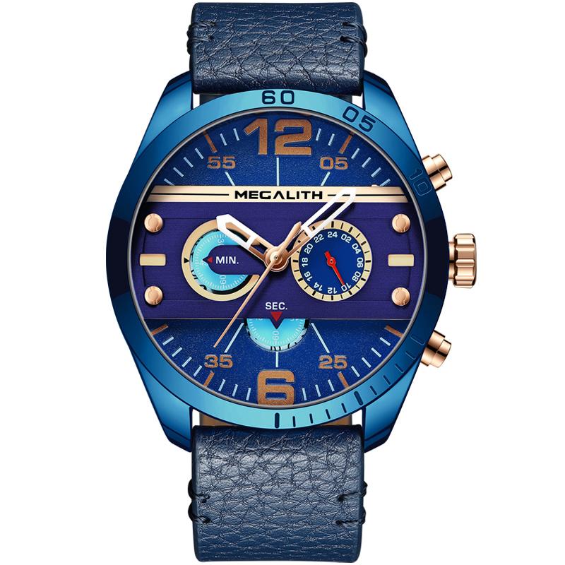 قیمت و خرید                      ساعت مچی عقربه ای مردانه مگالیت مدل 8072-Bl