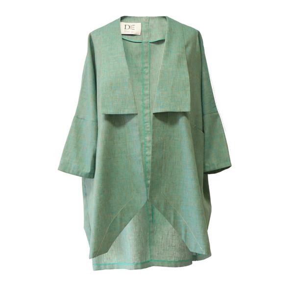 مانتو زنانه دِرِس ایگو کد 1100016 رنگ سبزآبی