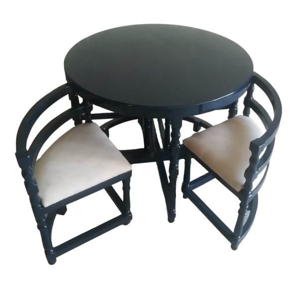 میز و صدندلی ناهارخوری 4 نفره مدل کم جا کد D21