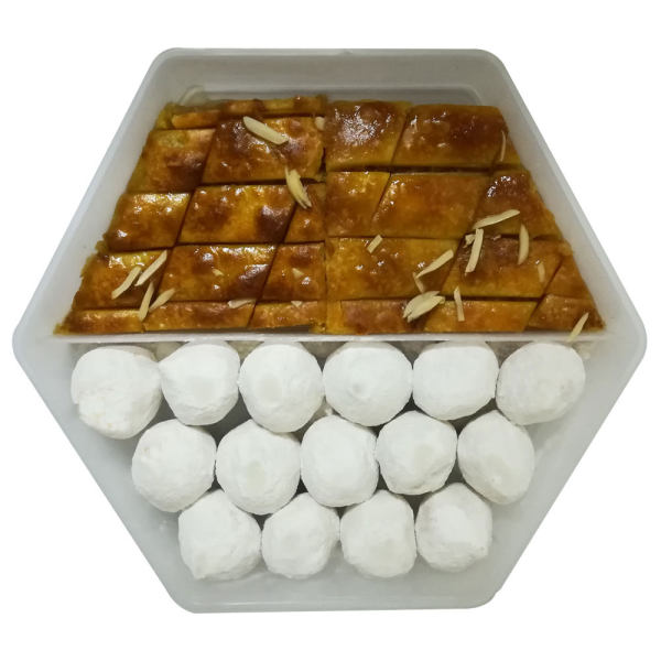 شیرینی قطاب و باقلوا یزد - 450 گرم