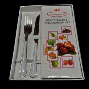 سرویس کارد و چنگال میوه خوری 12 پارچه کرون مستر کد 2558