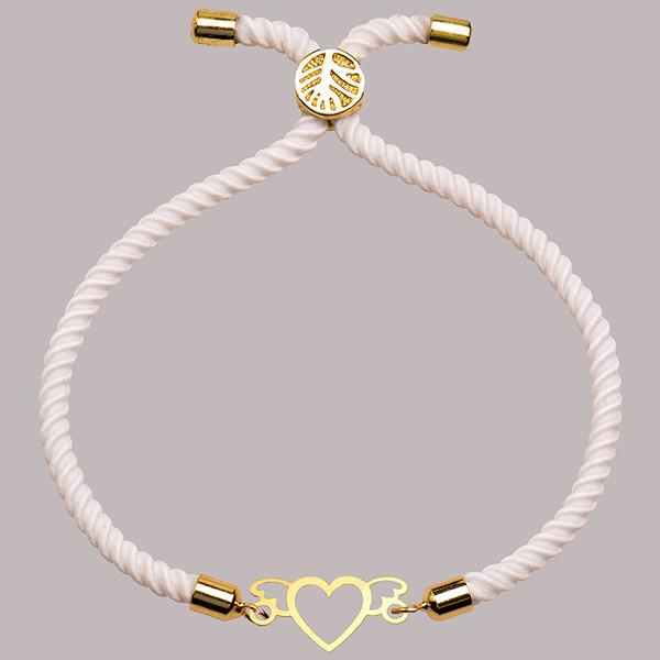 دستبند طلا 18 عیار زنانه کرابو طرح قلب مدل Kr1795