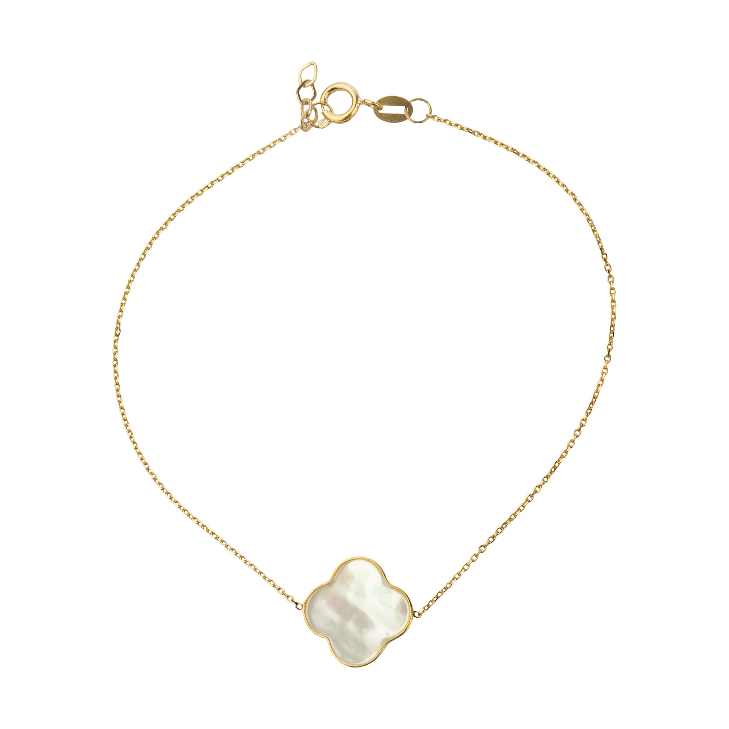 دستبند طلا 18 عیار زنانه میو گلد مدل GD627