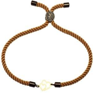 دستبند طلا 18 عیار دخترانه کرابو طرح دو قلب مدل Krd1132