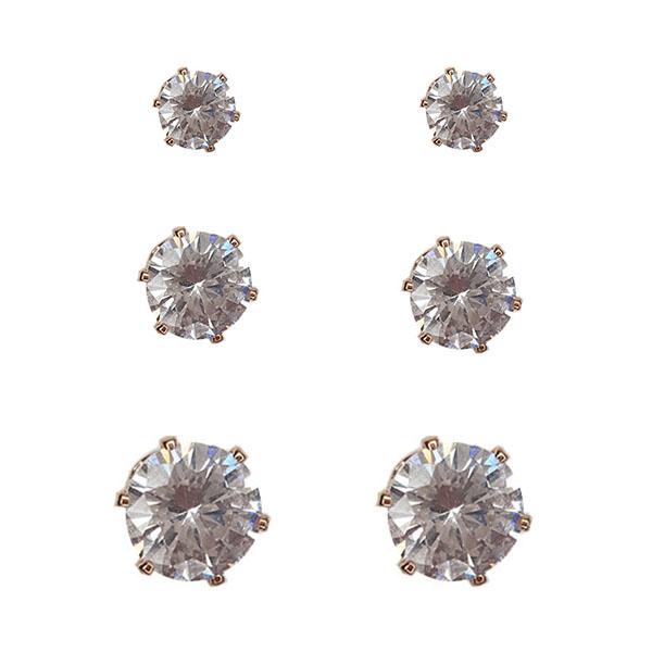 گوشواره زنانه آی ام مدل AL1074 مجموعه 3 عددی