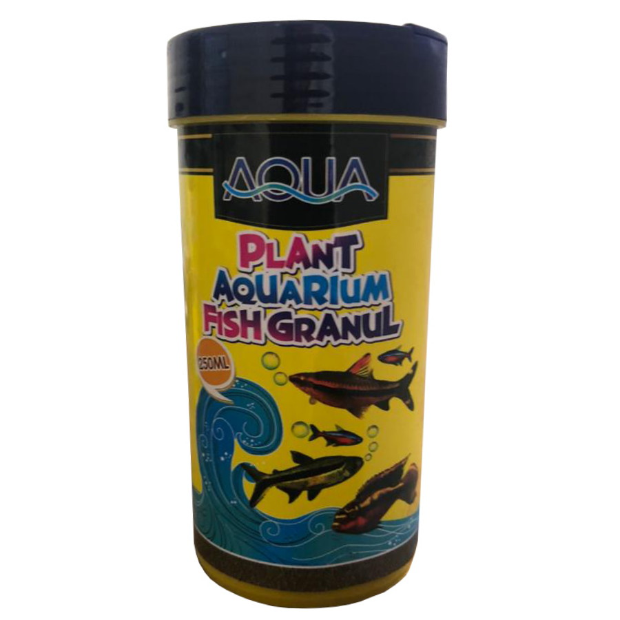غذای ماهی آکواریوم آکوا مدل plant-granul حجم 250 میلی لیتر