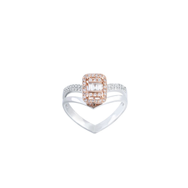 انگشتر طلا 18 عیار زنانه جواهری سروری مدل 13337