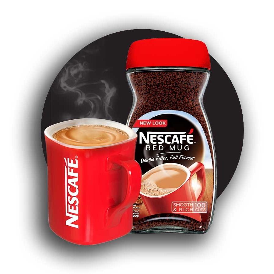 قهوه فوری رد ماگ نسکافه  - 100 گرم به همراه کافی میت نستله - 400 گرم