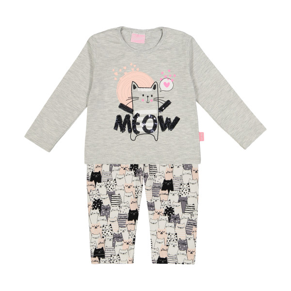 ست تی شرت و شلوار راحتی دخترانه بانی نو مدل 2191117-91