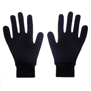 دستکش مدل نخی رنگ مشکی مجموعه 12 عددی