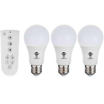 لامپ اس ام دی 10 وات پارس شهاب کد 0550 مجموعه 3 عددی به همراه ریموت