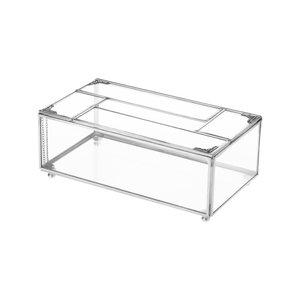 جعبه دستمال کاغذی شیشه ای مدل 2212 کد BT1