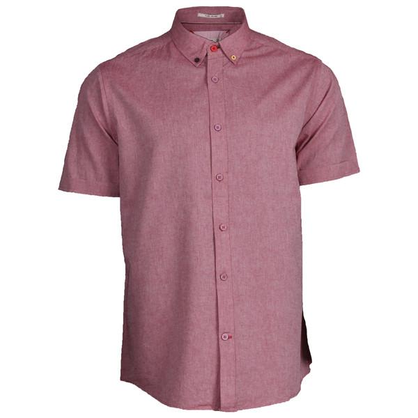پیراهن آستین کوتاه مردانه مدل لینن مانا