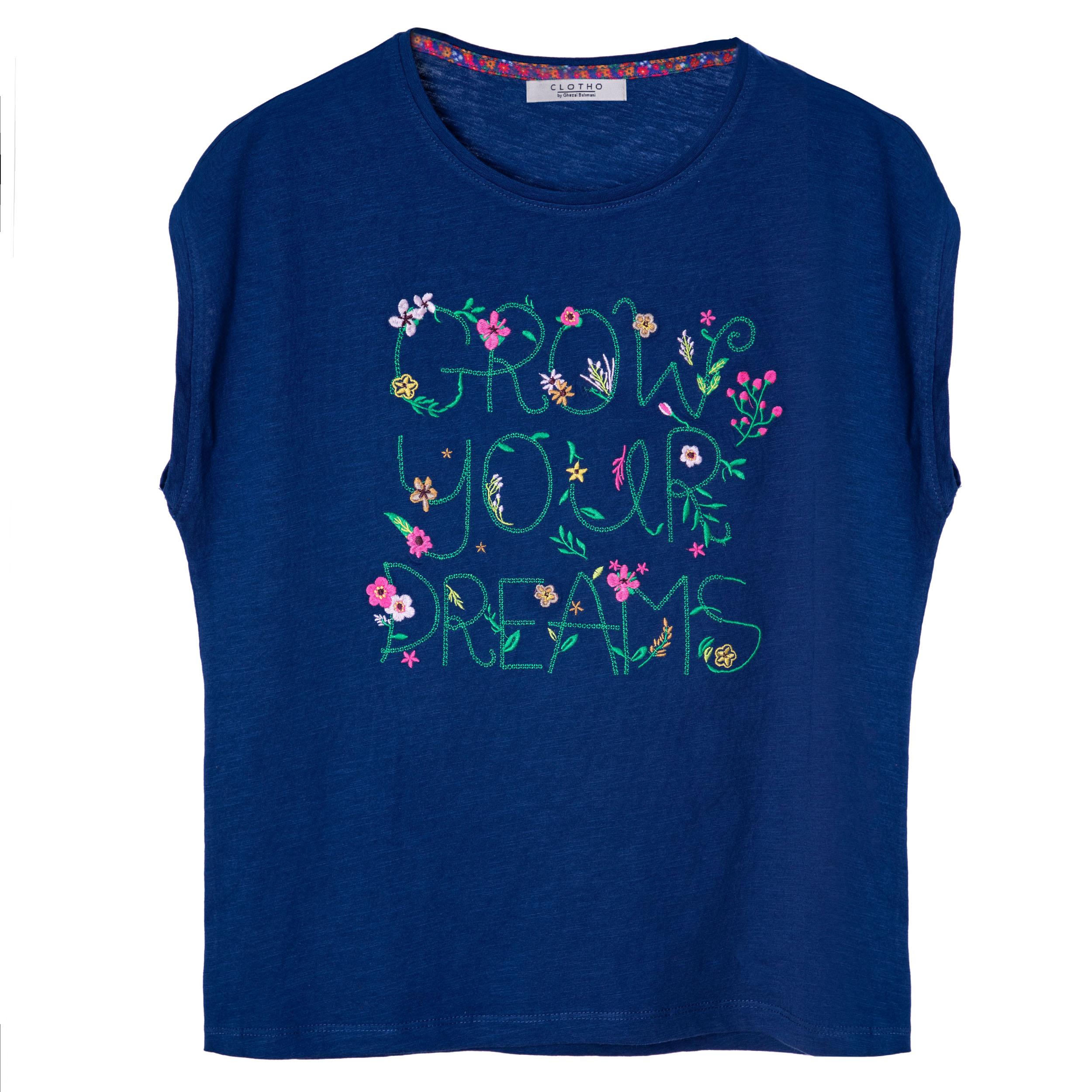 تی شرت زنانه کلوتو مدل FLORAL SUMMER db