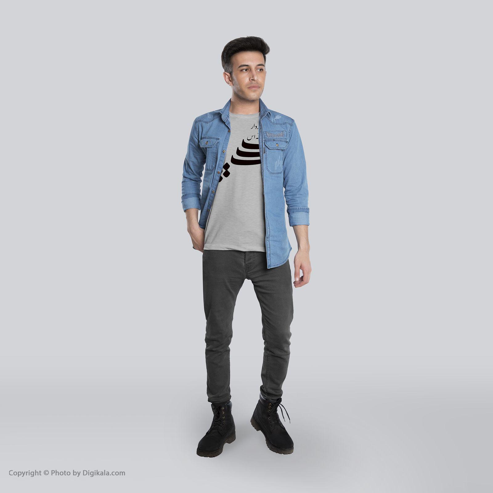 تی شرت  مردانه 27  طرح منجی کد B122 -  - 6