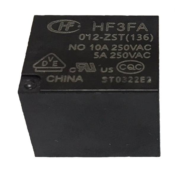رله 5 پایه  هونگفا کد HF3FA/012 بسته دو عددی