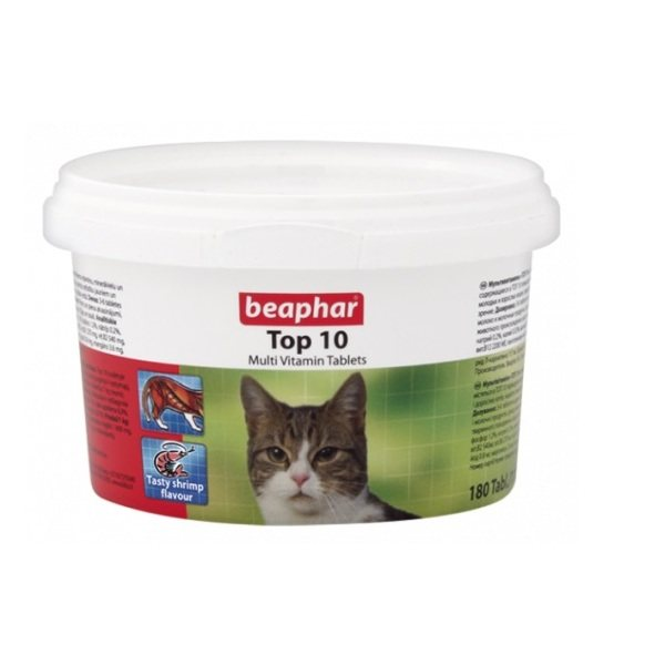 قرص مولتی ویتامین گربه بیفار مدل تاپ 10 بسته 180 عددی