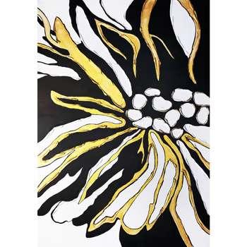 تابلو نقاشی میکس مدیا طرح گل مینا کد 107