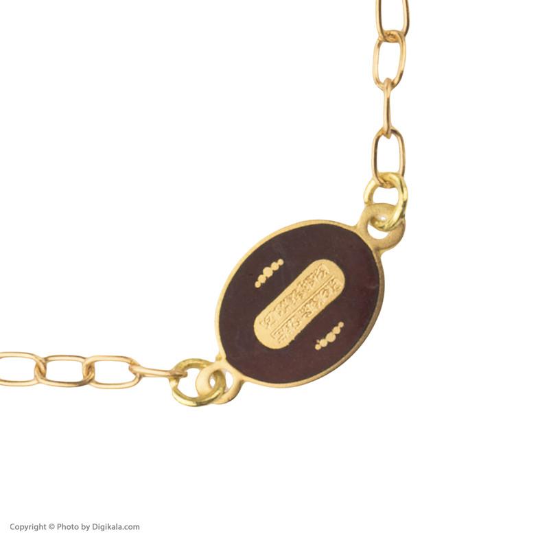 دستبند طلا 18 عیار دخترانه کانیار گالری کد DE1