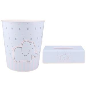 ست سطل و جادستمال کاغذی اتاق کودک طرح فیل کد 9990
