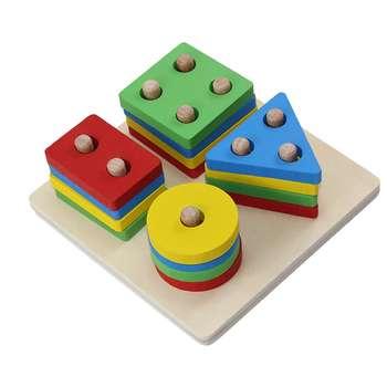 بازی آموزشی مونته سوری اشکال هندسی مدل R4