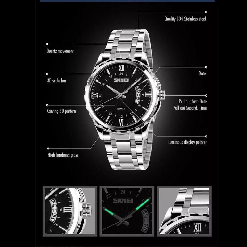 ساعت مچی عقربهای مردانه اسکمی مدل 9069SLBLC