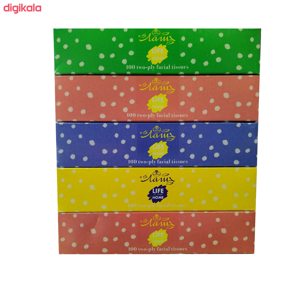 دستمال کاغذی 100 برگ چشمک مدل Spotted بسته 5 عددی main 1 1