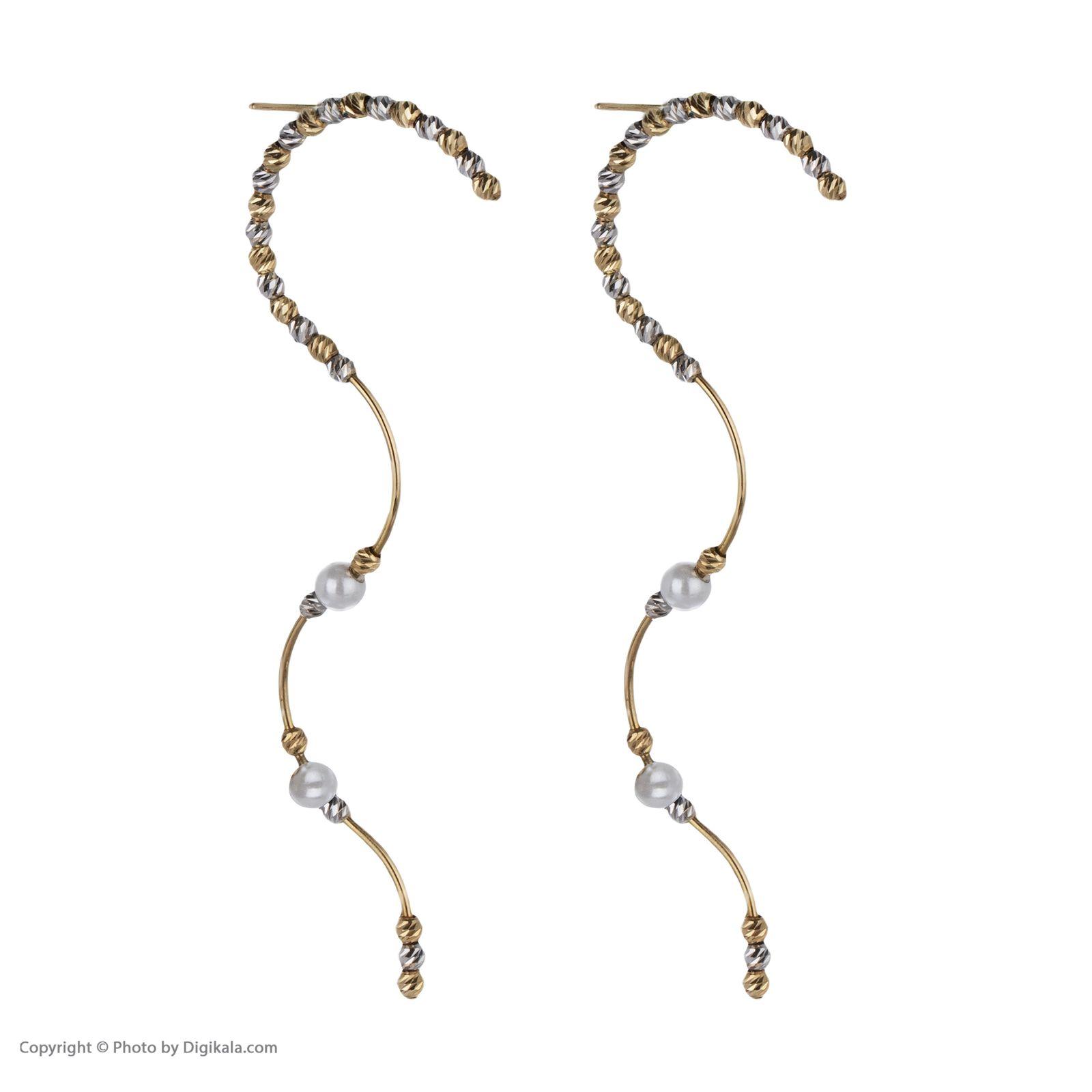 گوشواره طلا 18 عیار زنانه سیودو مدل 146436 -  - 4
