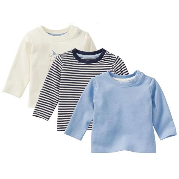 تی شرت آستین بلند نوزادی لوپیلو مدل 3859 مجموعه سه عددی