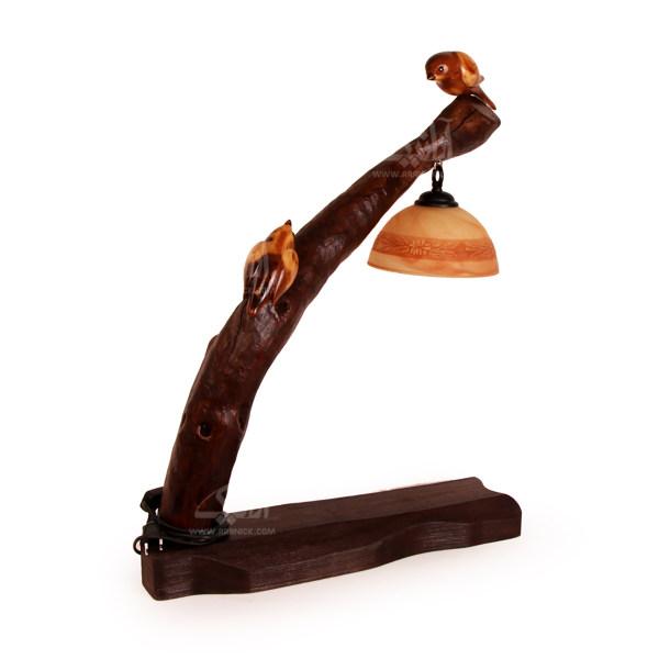 آباژور چوبی آرانیک قهوه ای طرح دو پرنده مدل 2217200010