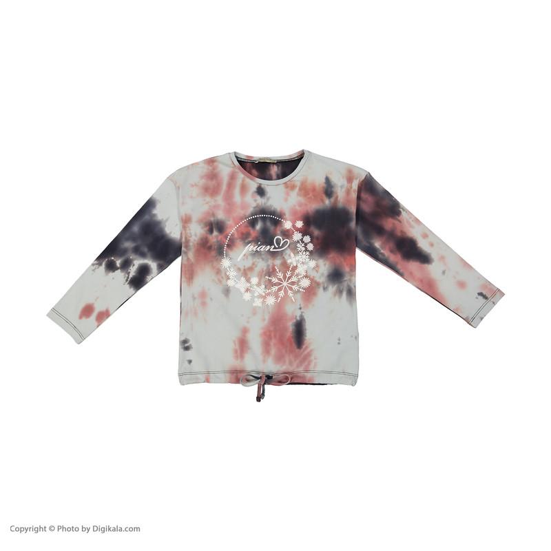 ست تی شرت و شلوار دخترانه پیانو مدل 01633-99