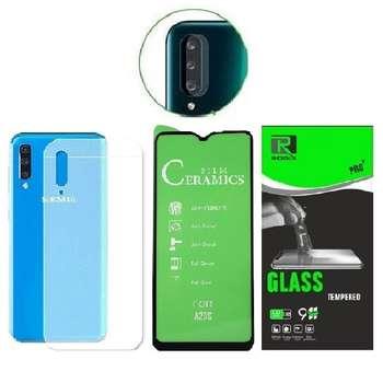 محافظ صفحه نمایش و پشت گوشی روبیکس مدل CR-A20sمناسب برای گوشی موبایل سامسونگ Galaxy A20s به همراه محافظ لنز دوربین
